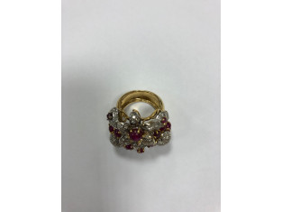 Fig 1 - Fig 1 - Anello in oro con brillanti e...