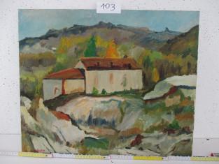 Fig 1 - Fig 1 - LOTTO 103 Dipinto paesaggio