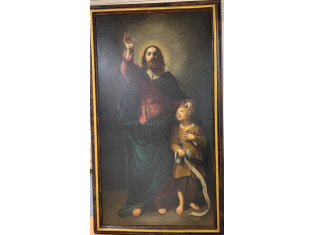 Fig 1 - Fig 2 - Dipinto Salvatore con un fanci...
